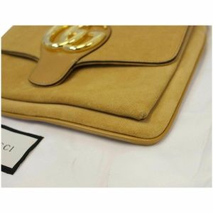 Gucci Bags - GUCCI Arli Medium Suede Leather Crossbody Bag